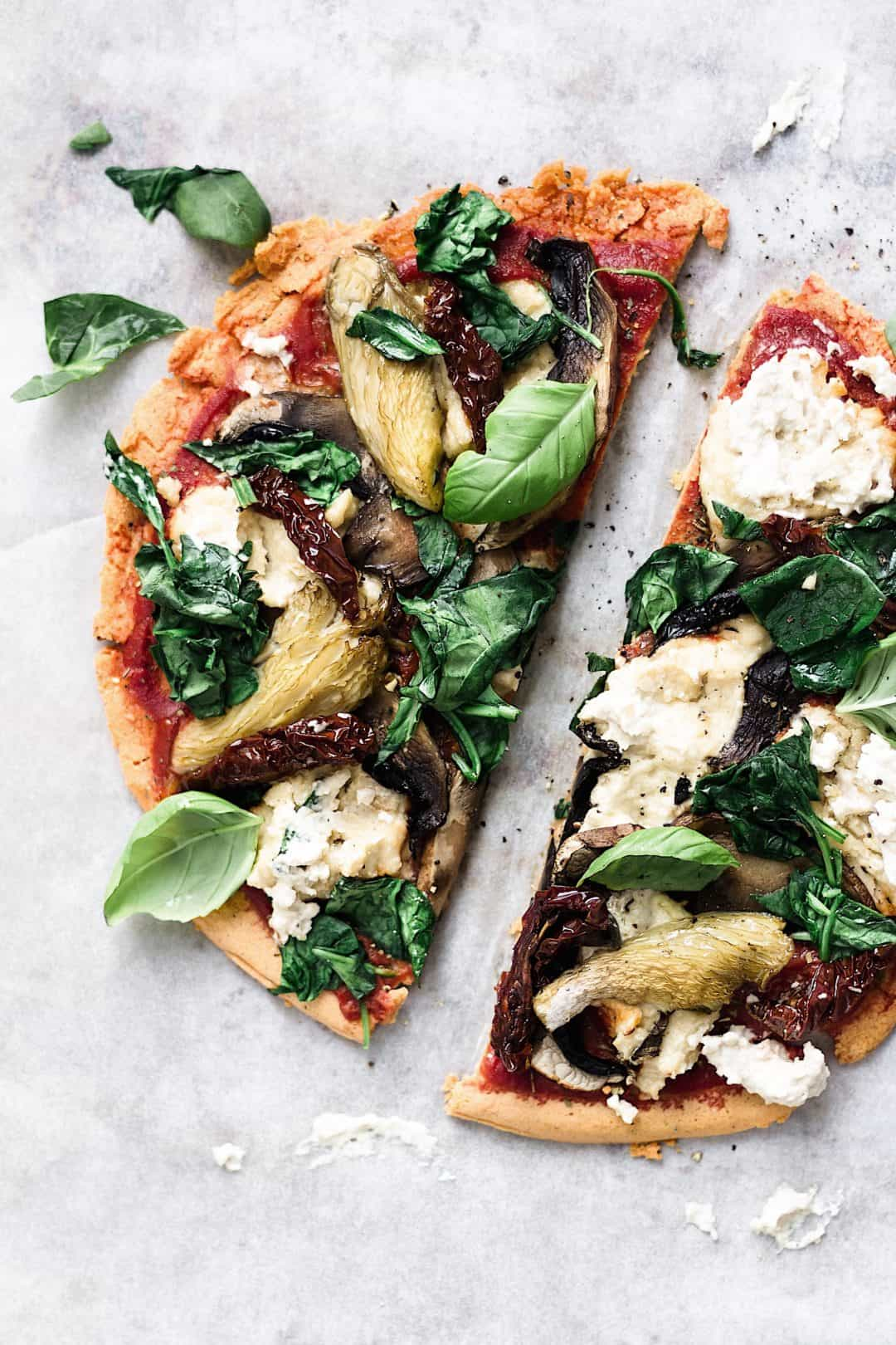lentil crust pizza vegan