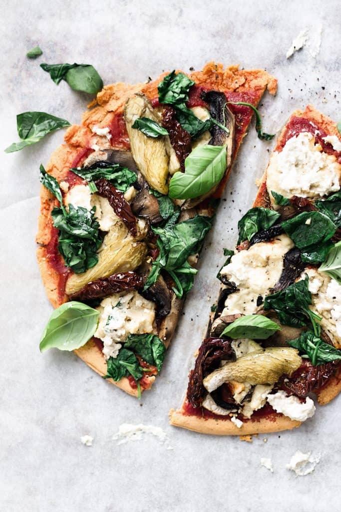 lentil crust pizza vegan