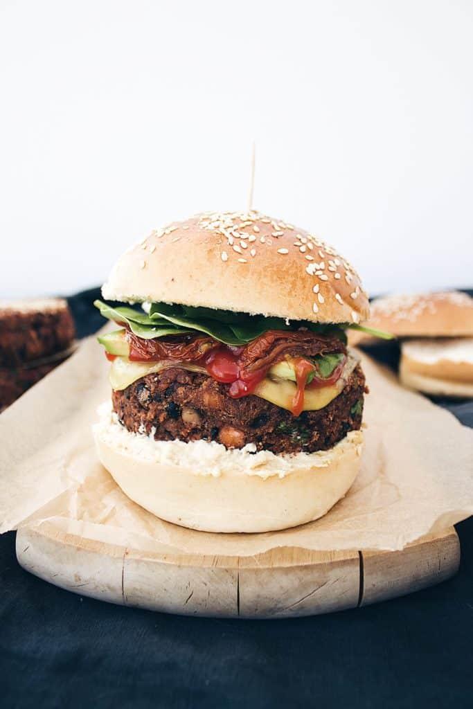 Spicy Vegan Burgers