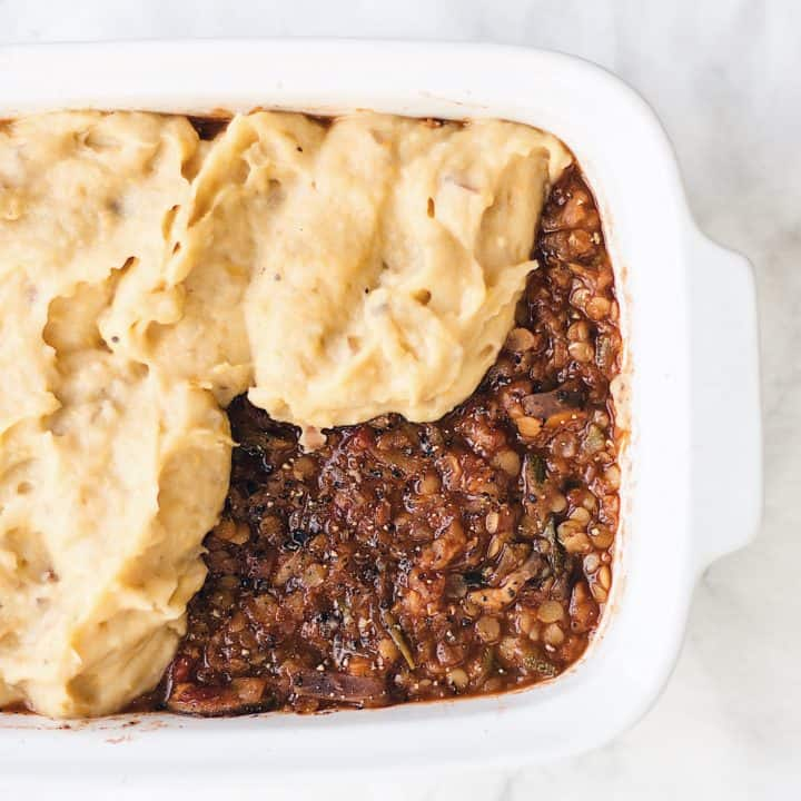 Lentil and Courgette Shepherd's Pie