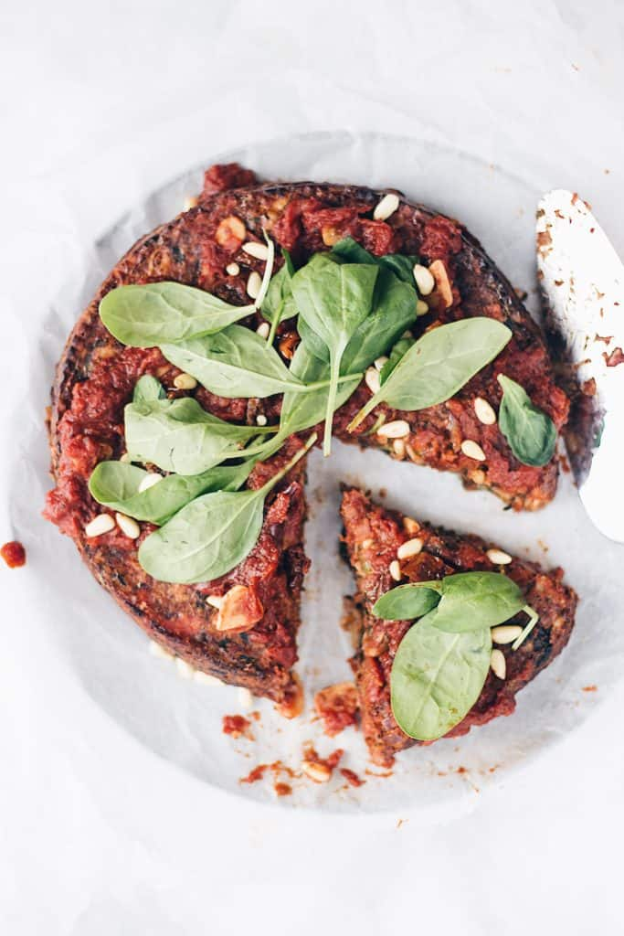 Sundried tomato spinach nut roast