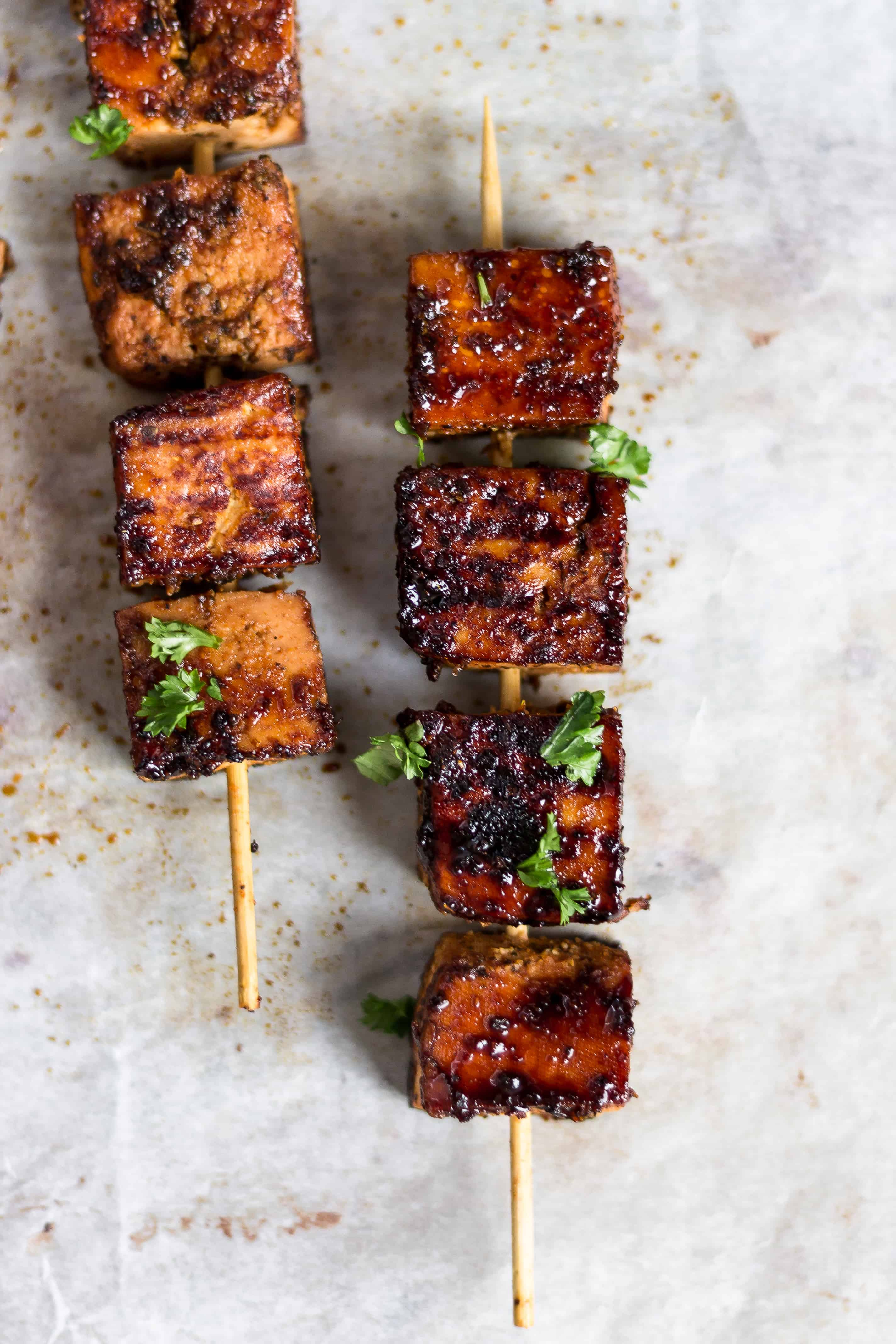 tofu cajun orange skewer vegan