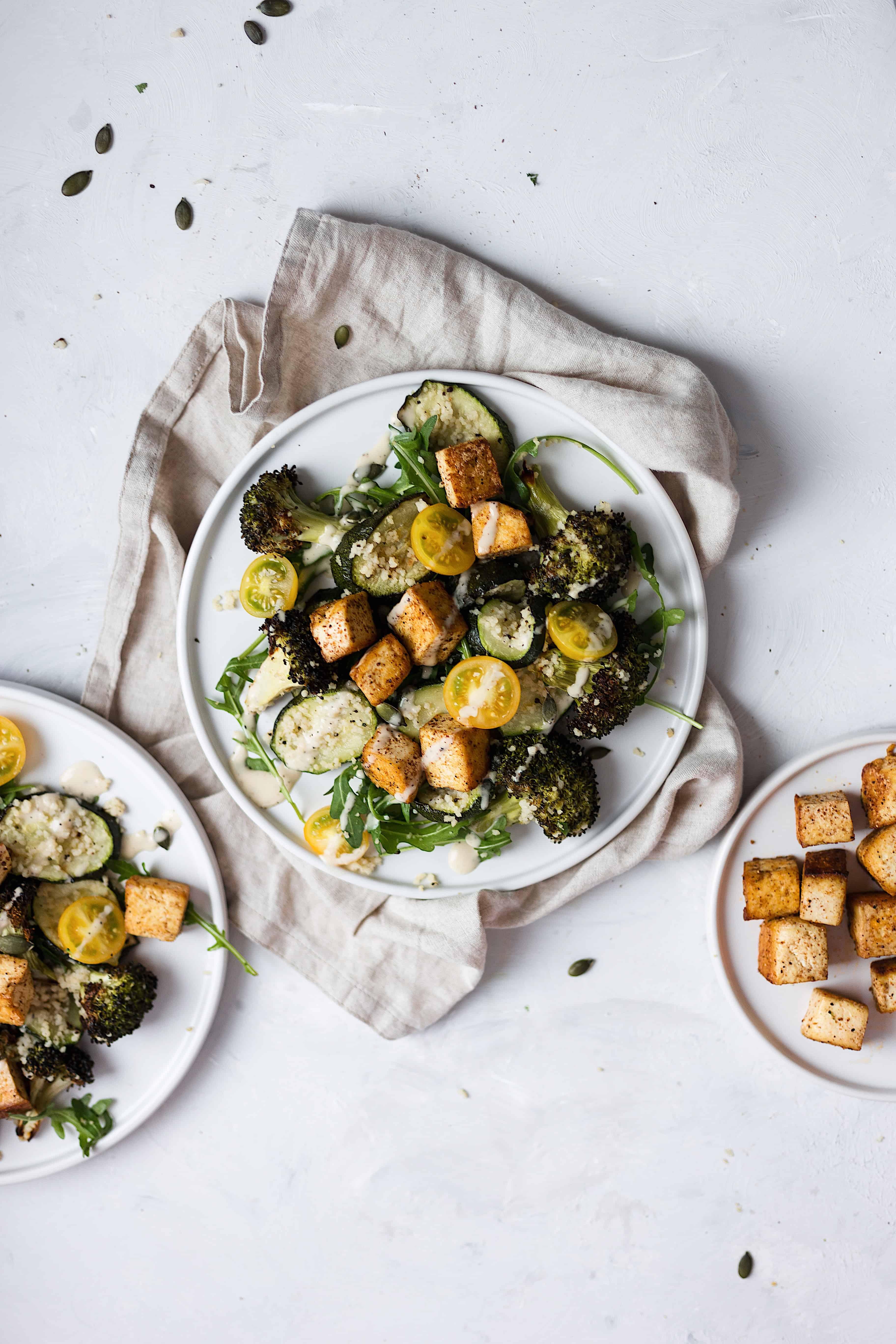 vegan tofu green salad recipe