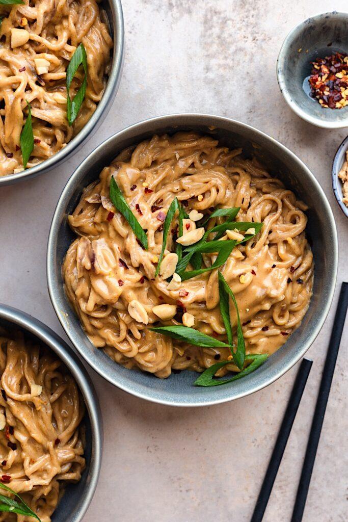 Vegan Veggie Peanut Satay Noodles #satay #peanut #noodles #vegan #vegetarian