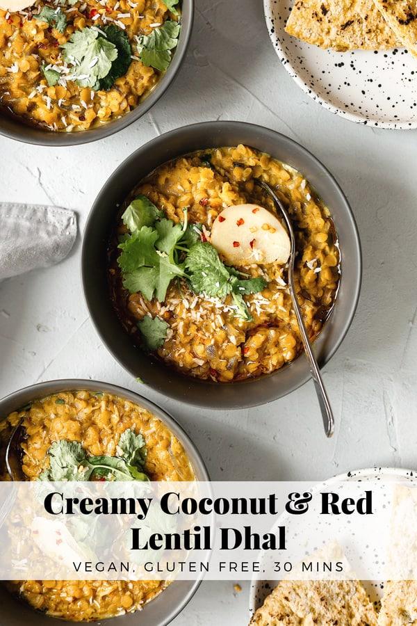 Vegan Creamy Coconut & Red Lentil Dhal