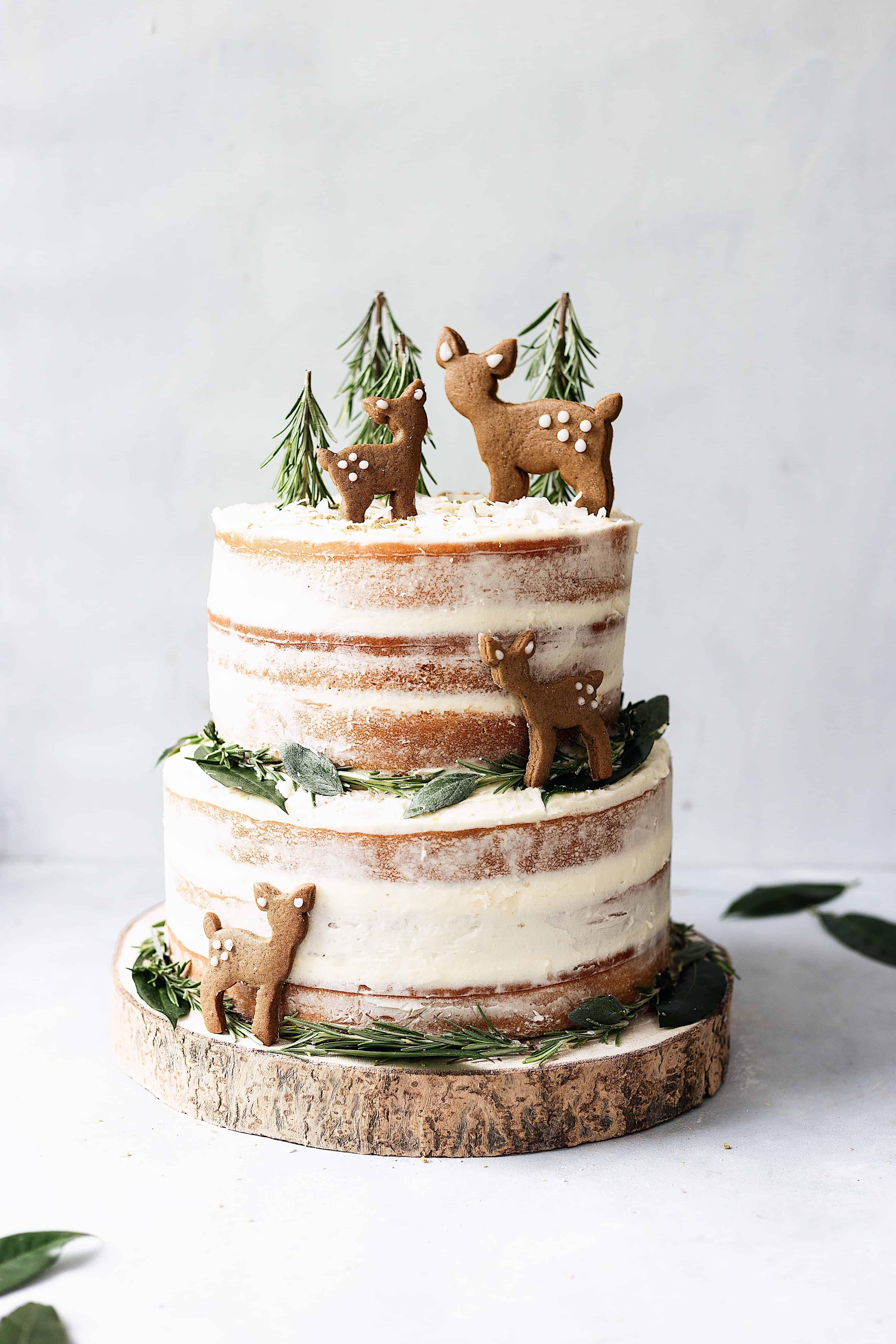 Vegan Lemon & Elderflower Cake with Chai Spice Biscuits