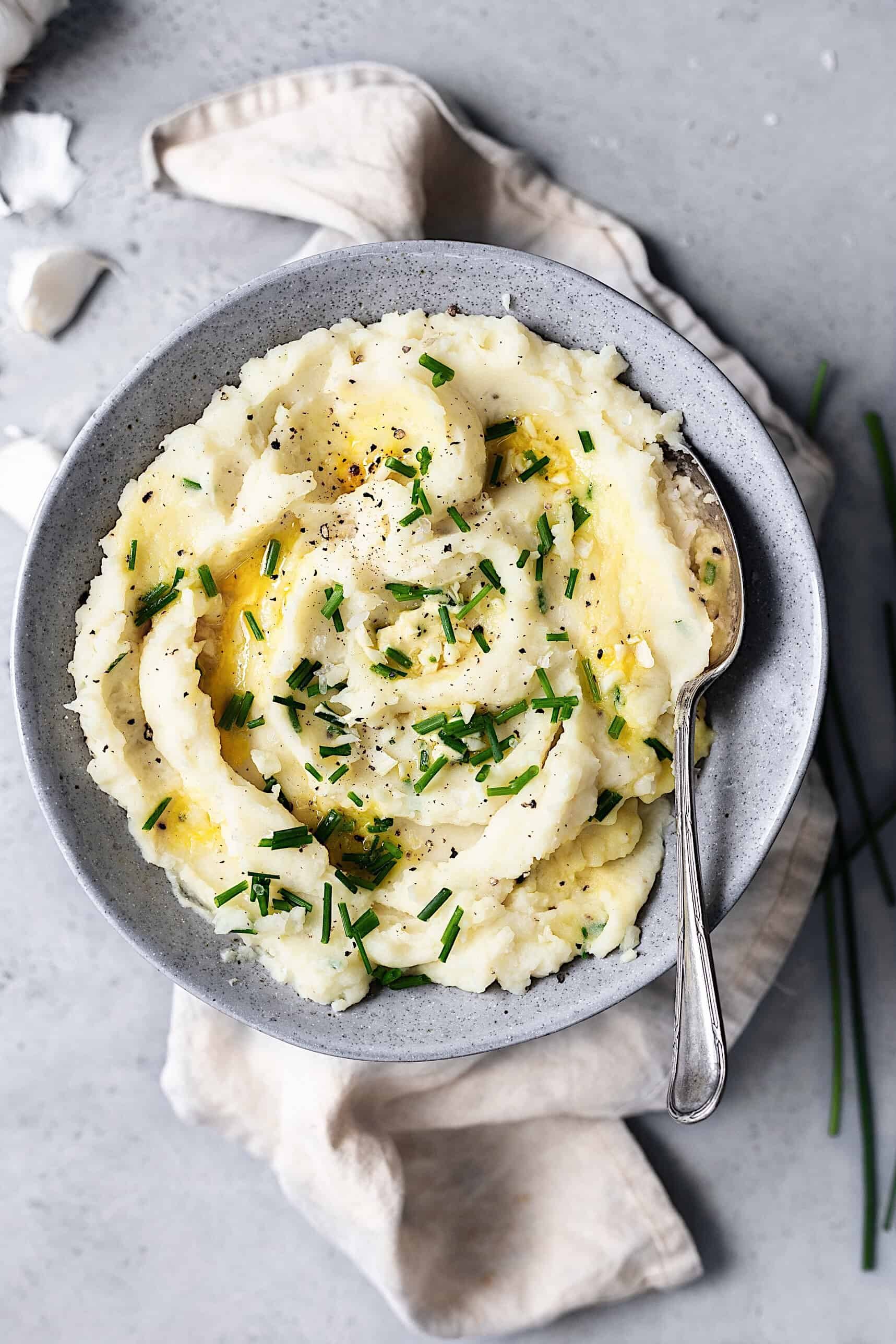 Vegan Garlic Mashed Potato #veganmashedpotato