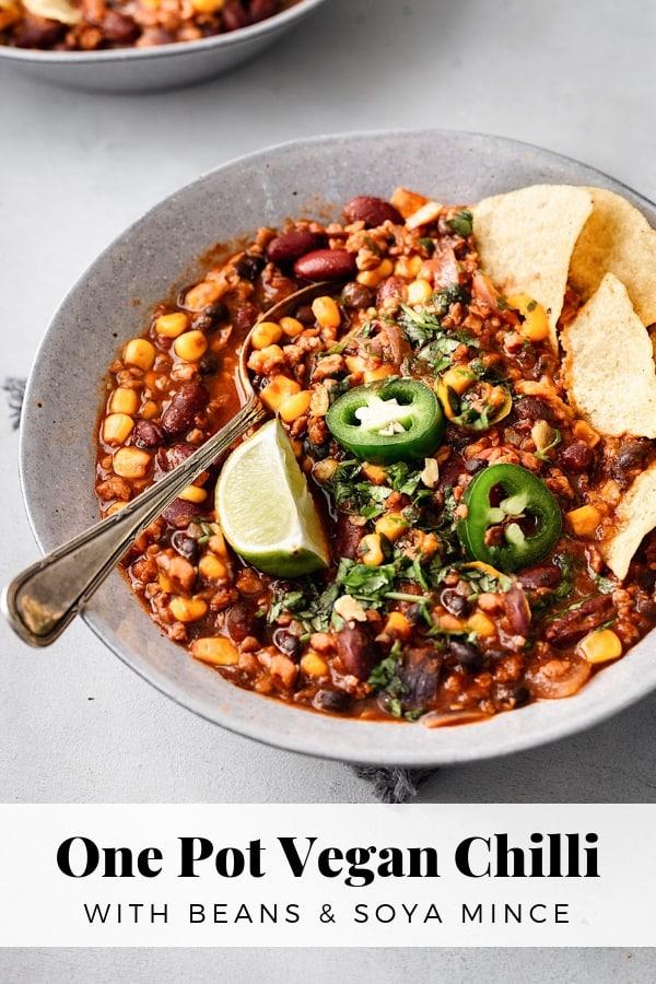 One Pot Vegan Chili #veganchili