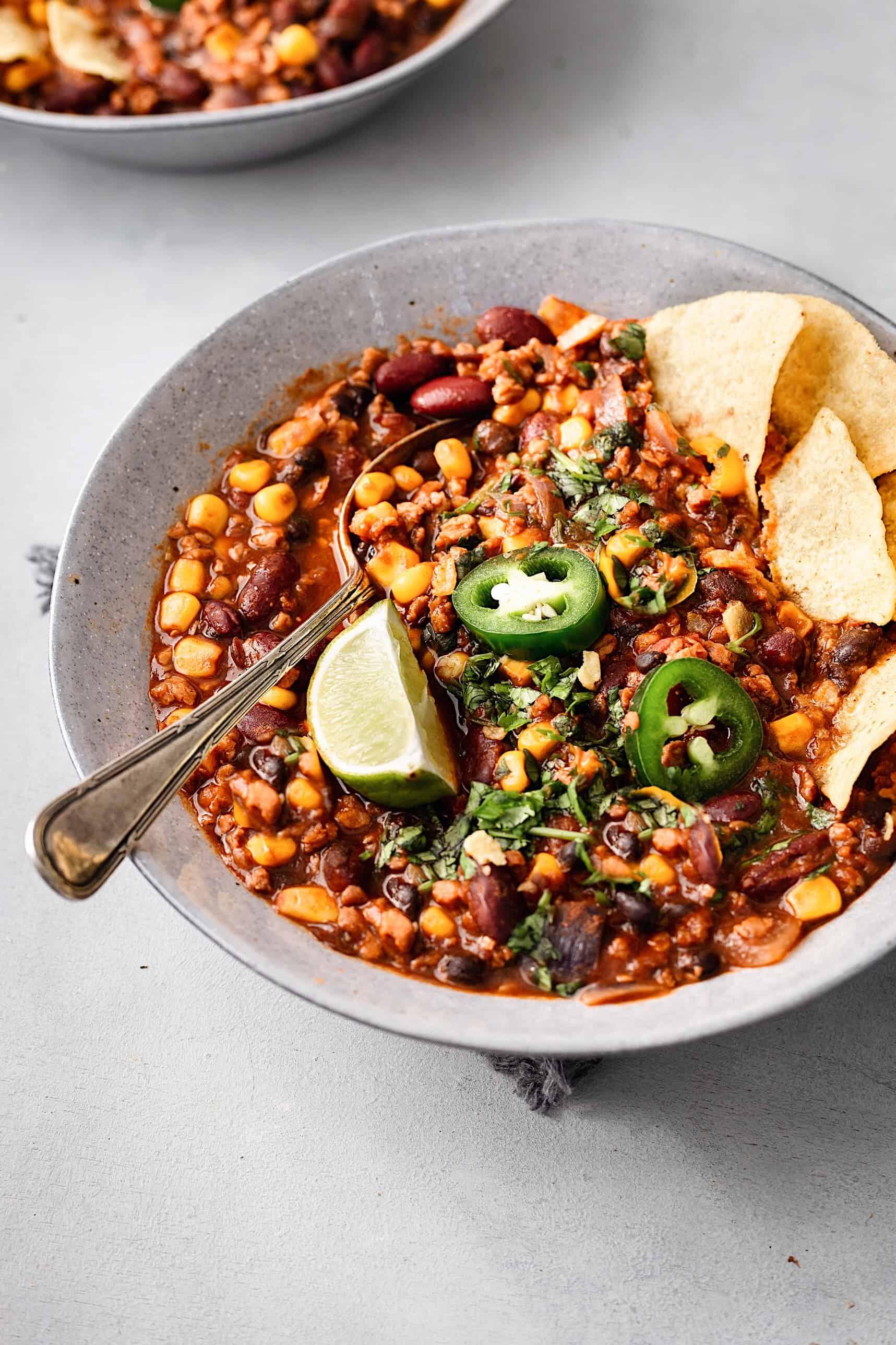 One Pot Vegan Chilli #veganchilli