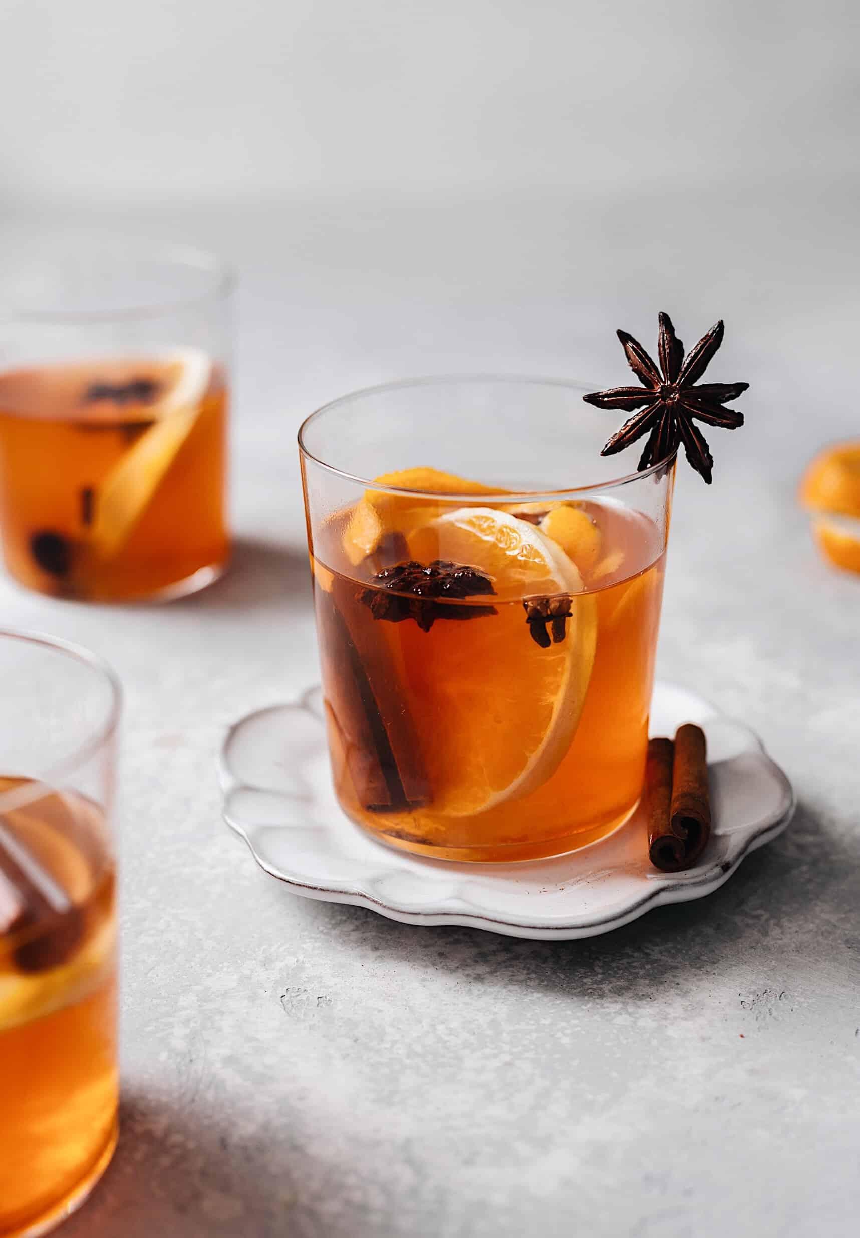 Maple Spiced Mulled Cider #mulledcider #christmasdrink