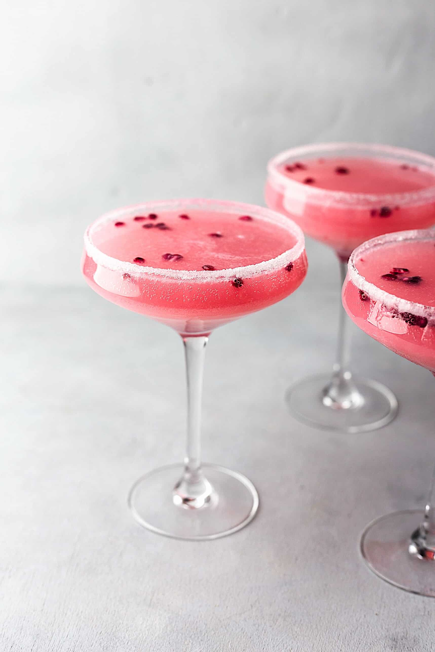 Pomegranate Maple Fizz Cocktail