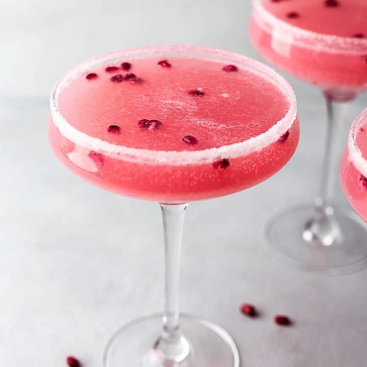Pomegranate Maple Fizz Cocktail