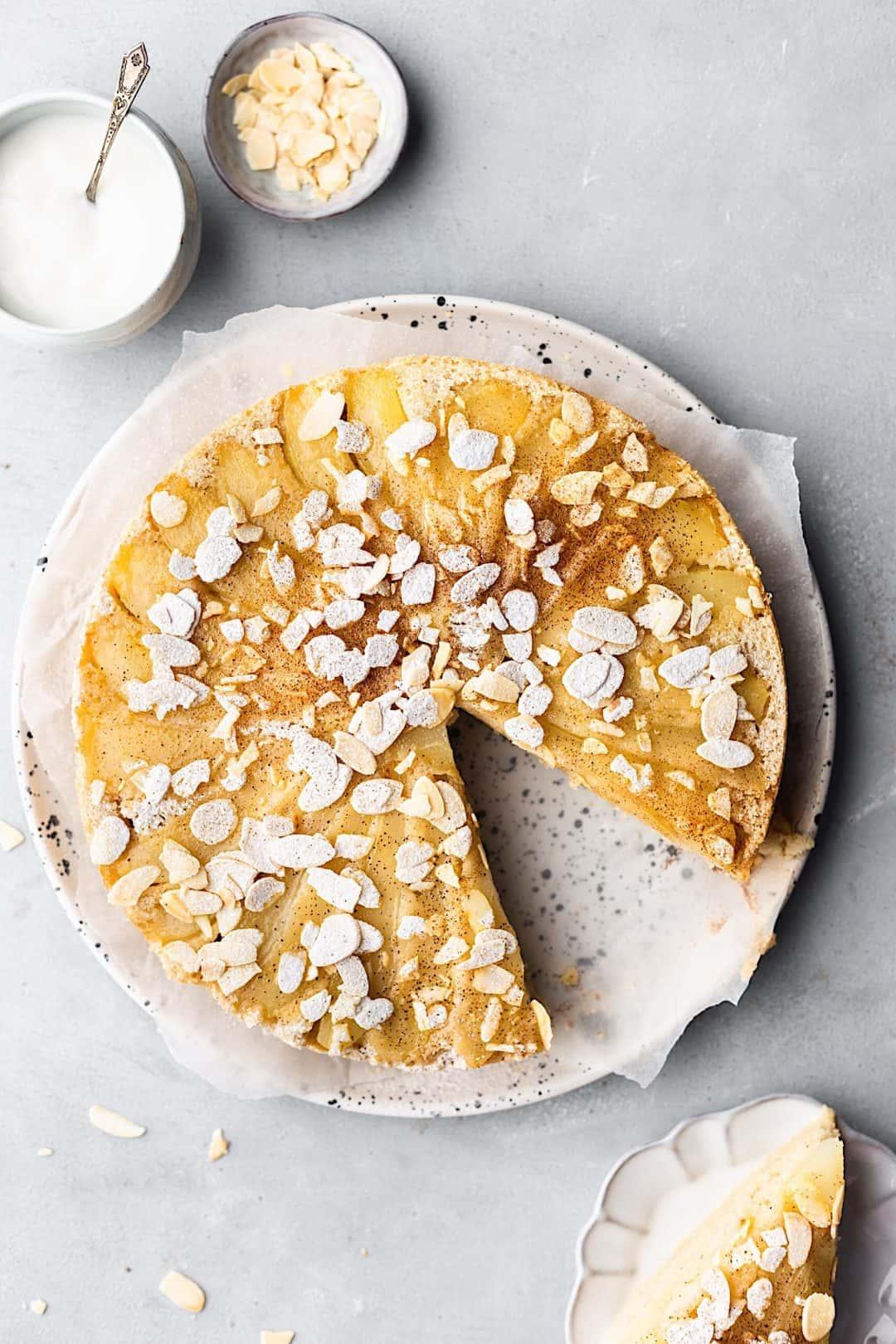 Vegan Upside Down Pear Cake #cake #recipe #vegan