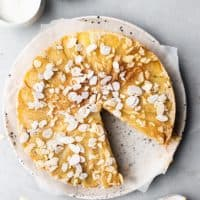 Upside Down Pear & Almond Cake
