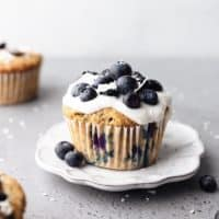 Vegan Blueberry and Coconut Muffins
