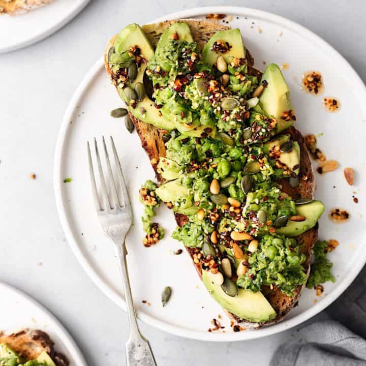Smashed Peas and Avocado on Toast