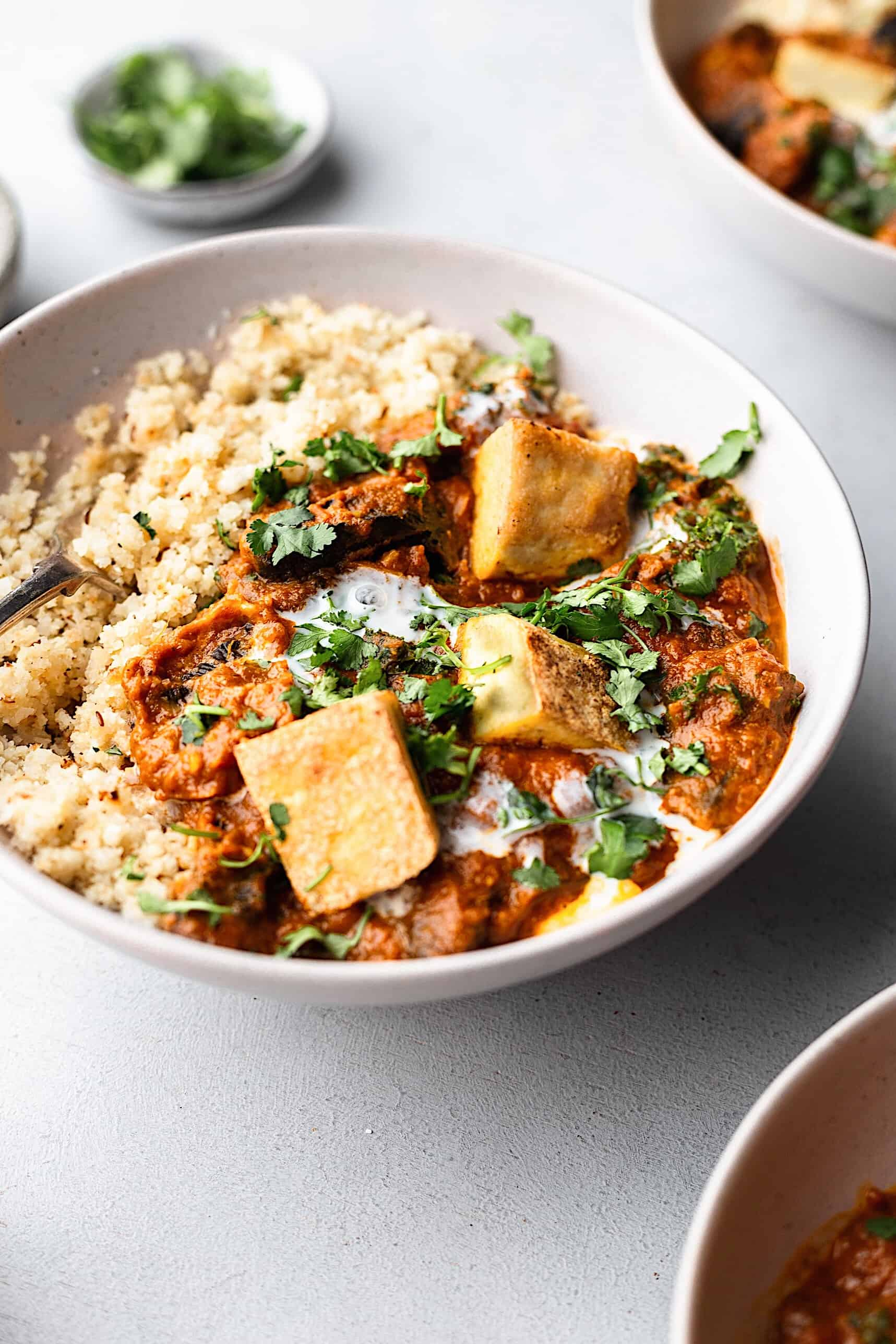 Vegan Tikka Masala with Cauliflower Rice