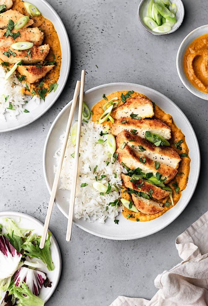 Vegan Tofu Katsu Curry #vegan #recipe #curry