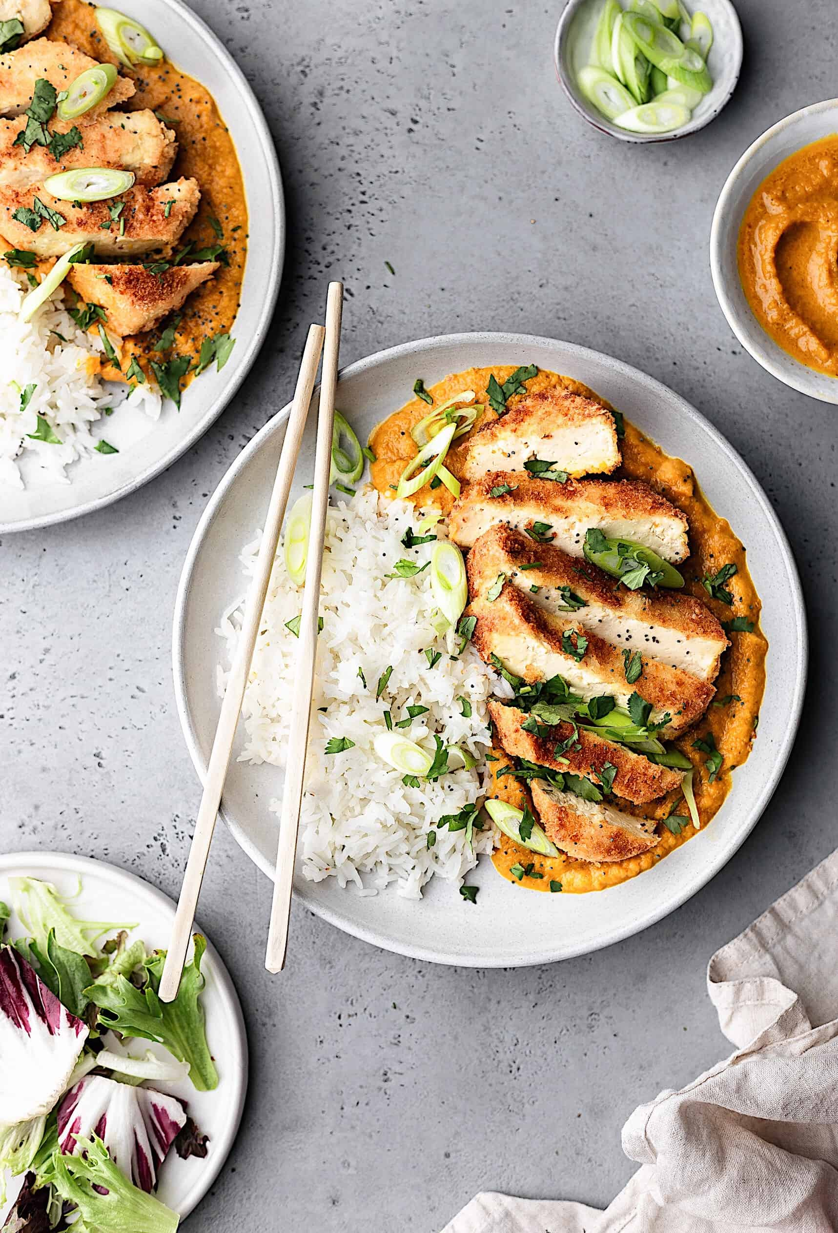 Vegan Tofu Katsu Curry #vegan #recipe #curry