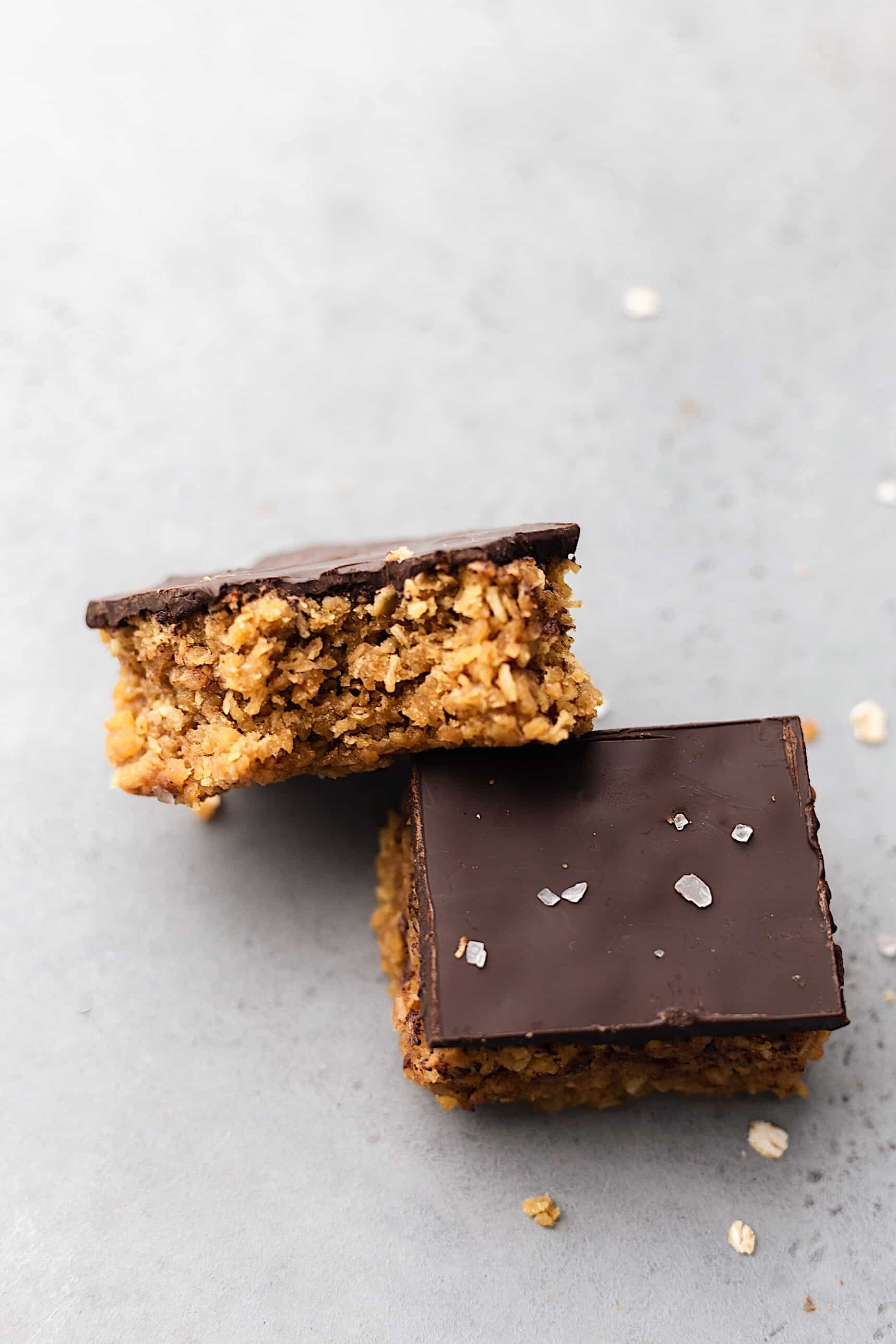 Vegan Coconut and Chocolate Flapjacks #vegan #recipe #coconut #flapjack #chocolate