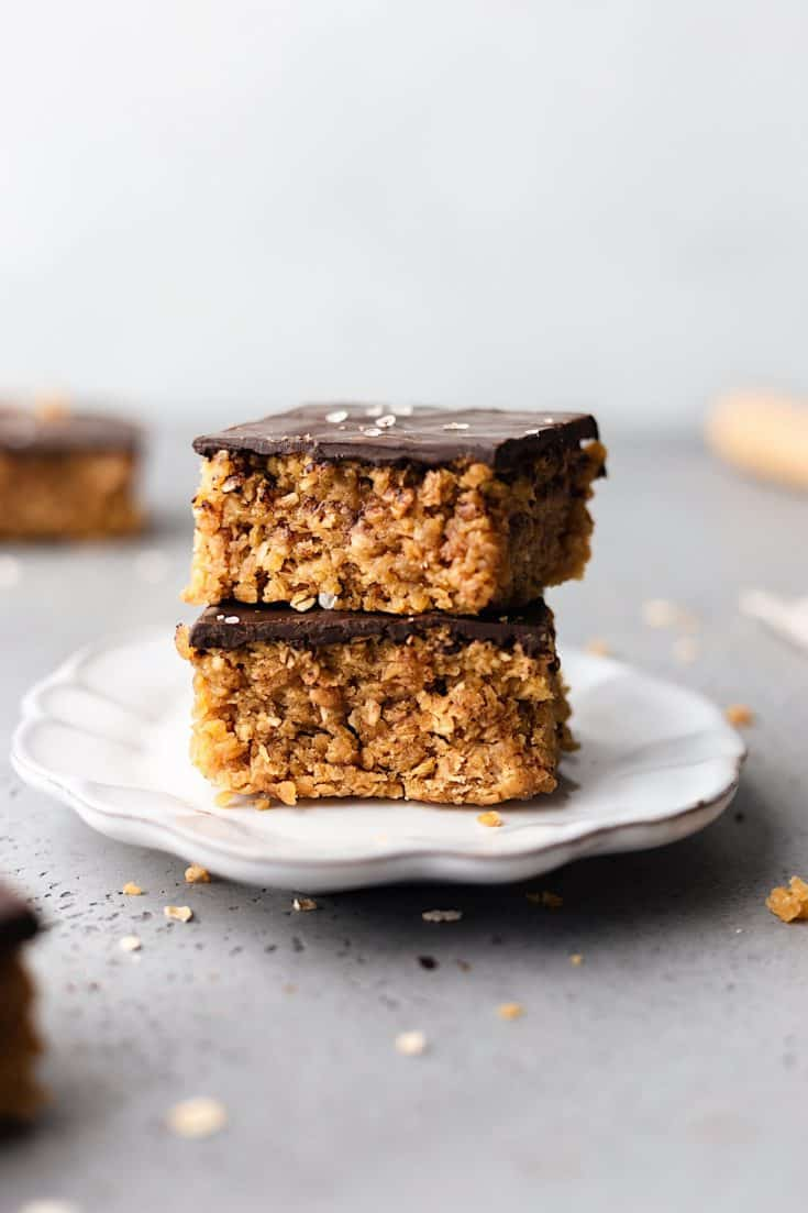Vanilla, Coconut and Chocolate Flapjacks