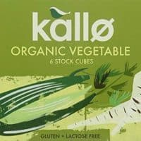 Kallo Organic Vegetable Stock Cubes 66 g (Pack of 15)