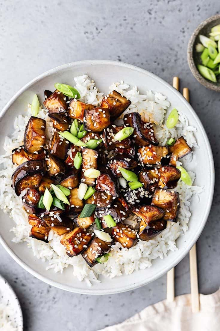 Marinated Teriyaki Eggplant Cupful Of Kale