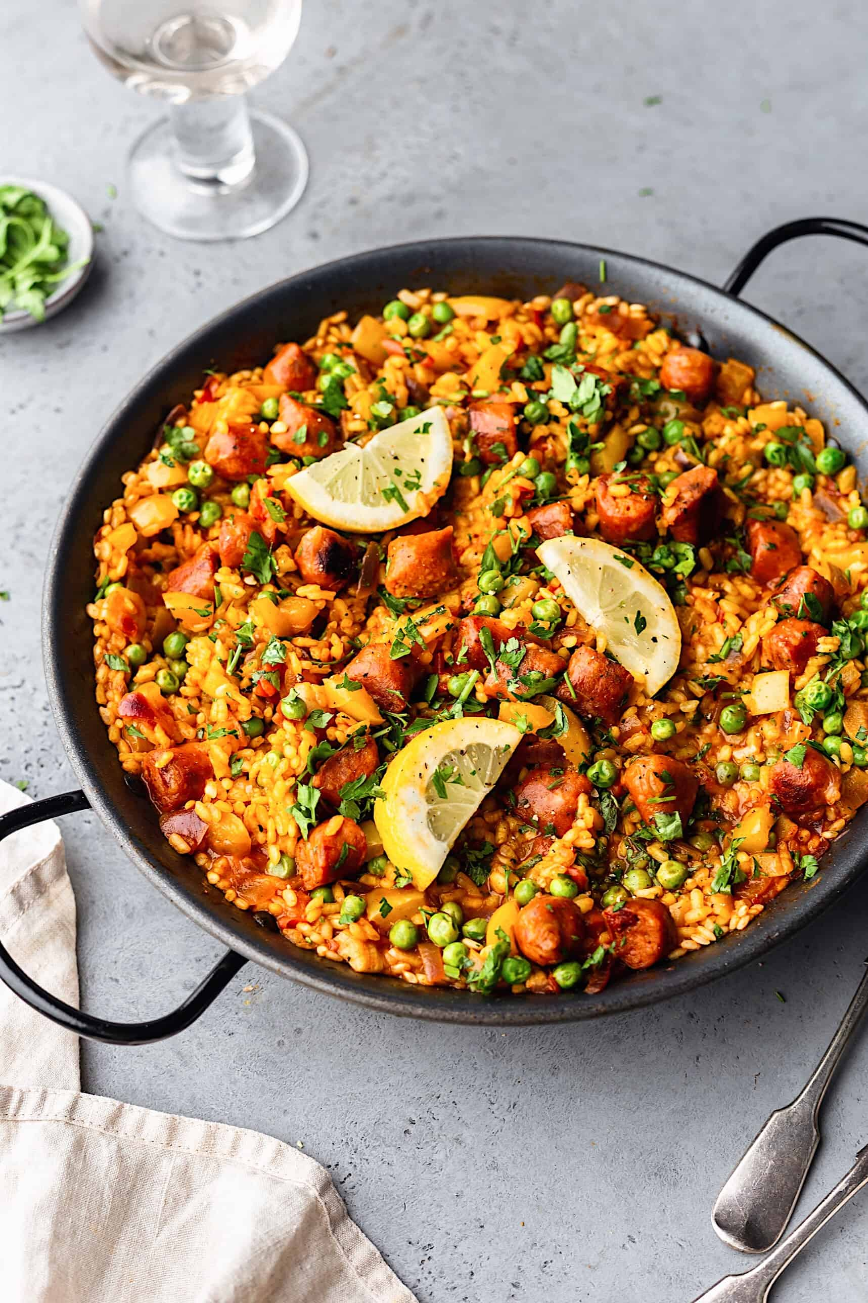 Vegan Chorizo Vegetable Paella #paella #vegan #recipe #food #rice #chorizo