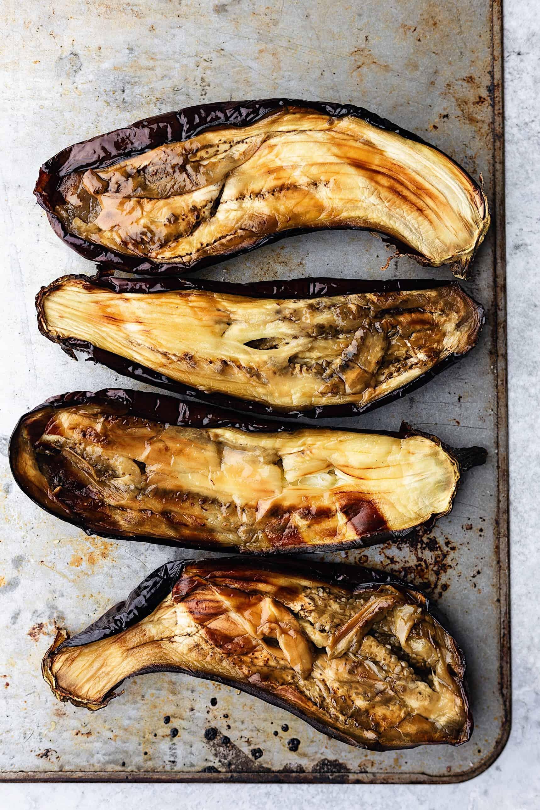 Smoky Roasted Eggplant Dip #eggplant #aubergine #vegan #recipe #dip