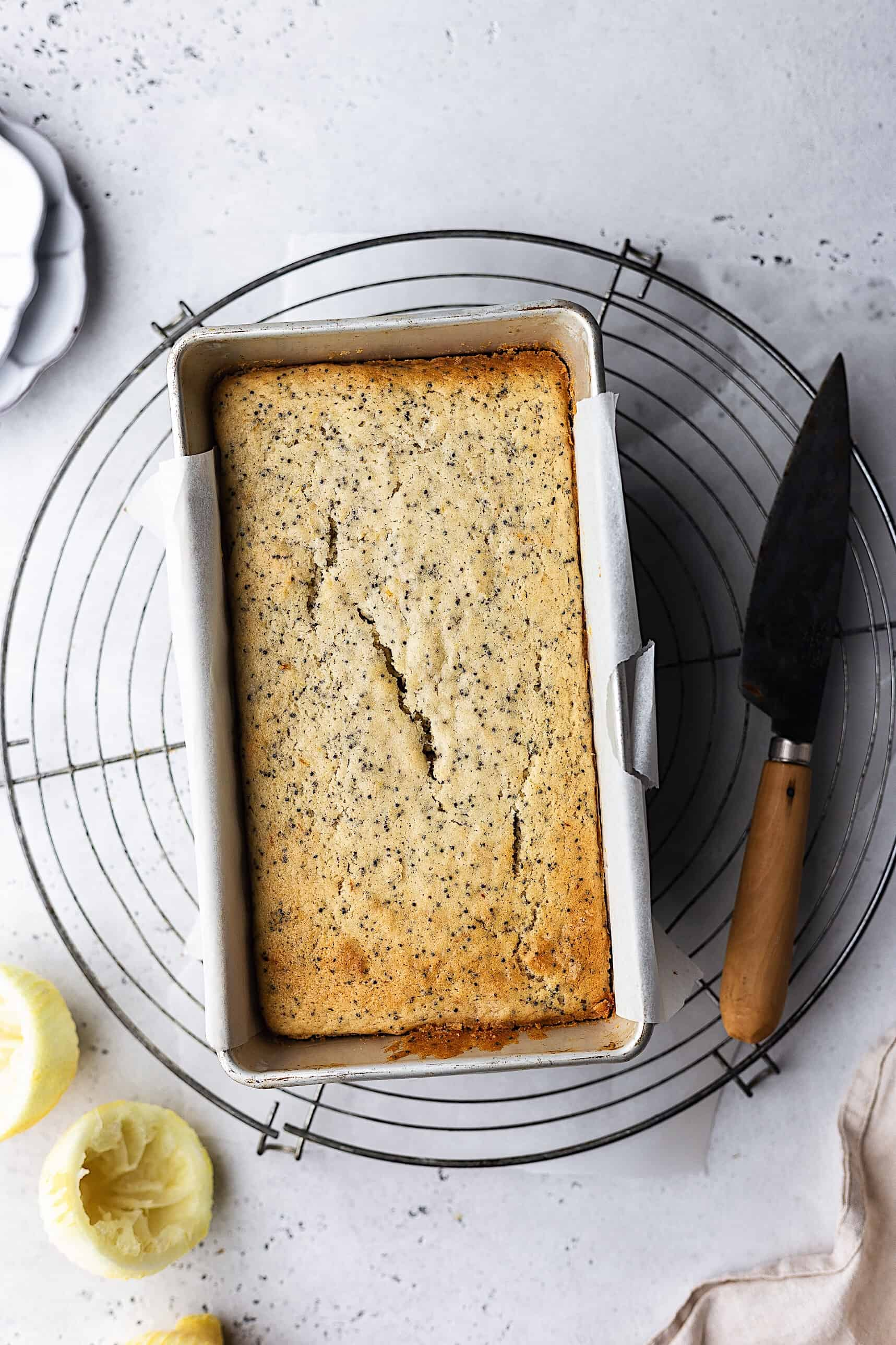 Vegan Lemon Poppy Seed Cake #vegancake #lemon #poppyseed #recipe #cake