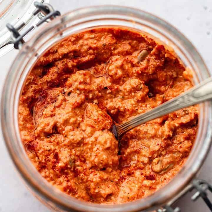 Sunflower Seed Red Pepper Romesco Sauce