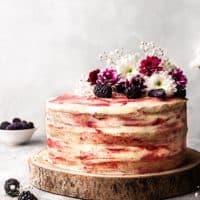 Vegan Blackberry and Gin Cake