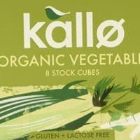 Kallo Organic Vegetable 8 Stock Cubes (Pack of 12)