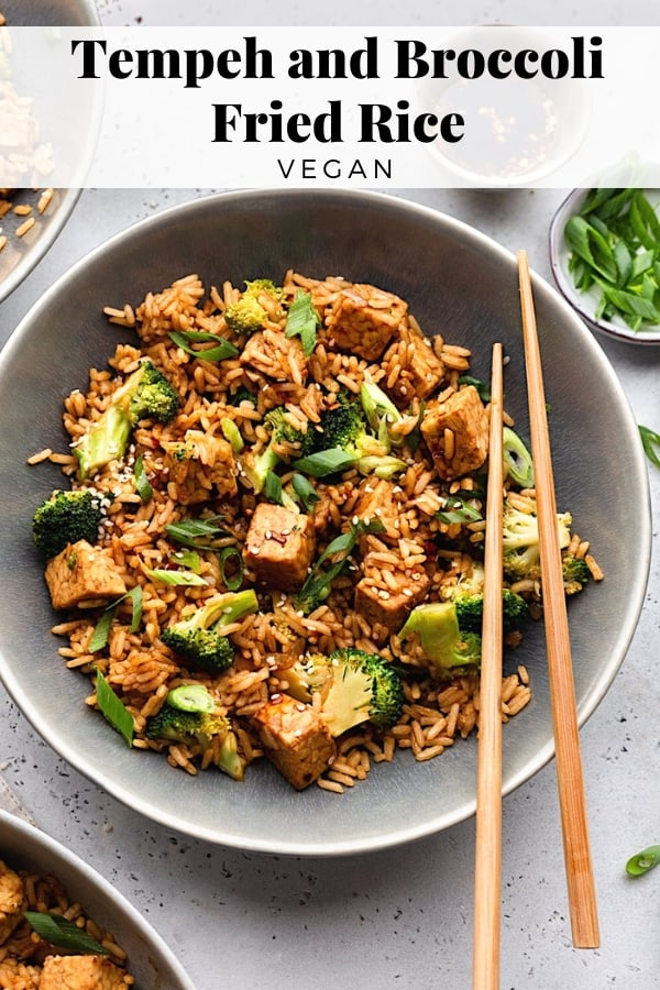 Vegan Fried Rice #rice #tempeh #chinesefood #vegan #recipe