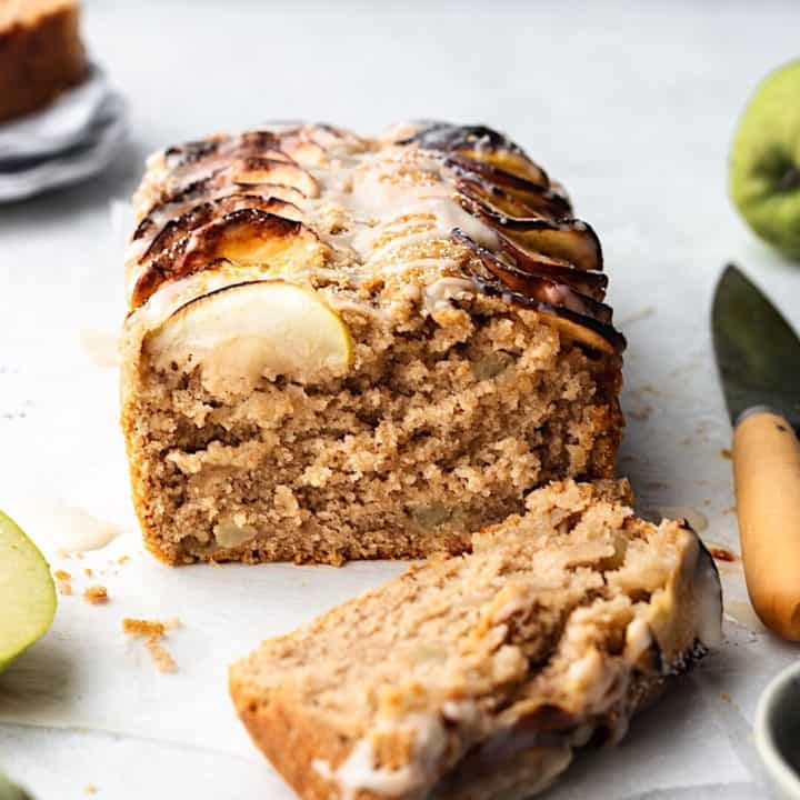 Cinnamon Apple Cake with Maple Icing