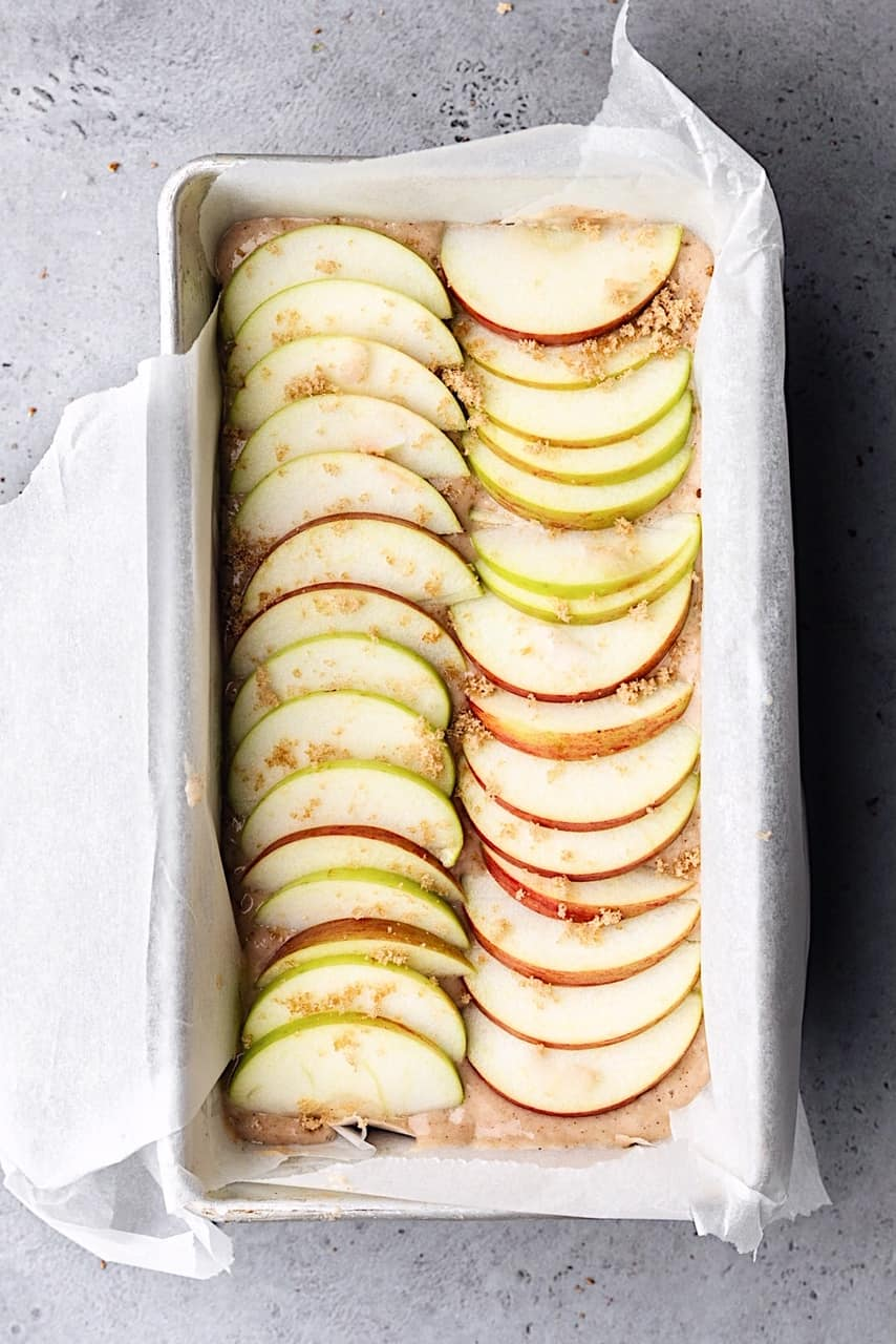 Vegan Cinnamon Apple Loaf in Tin