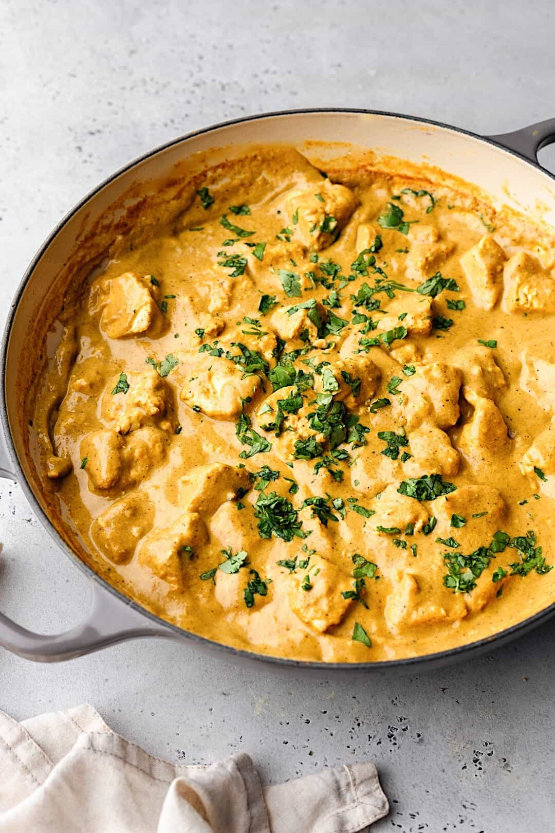 Vegan Tofu Korma Curry with Toasted Cashews #vegan #curry #cashew #recipe #tofu