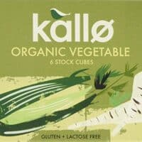Kallo Yeast Free Vegetable Stock Cubes 66 g (Pack of 15)