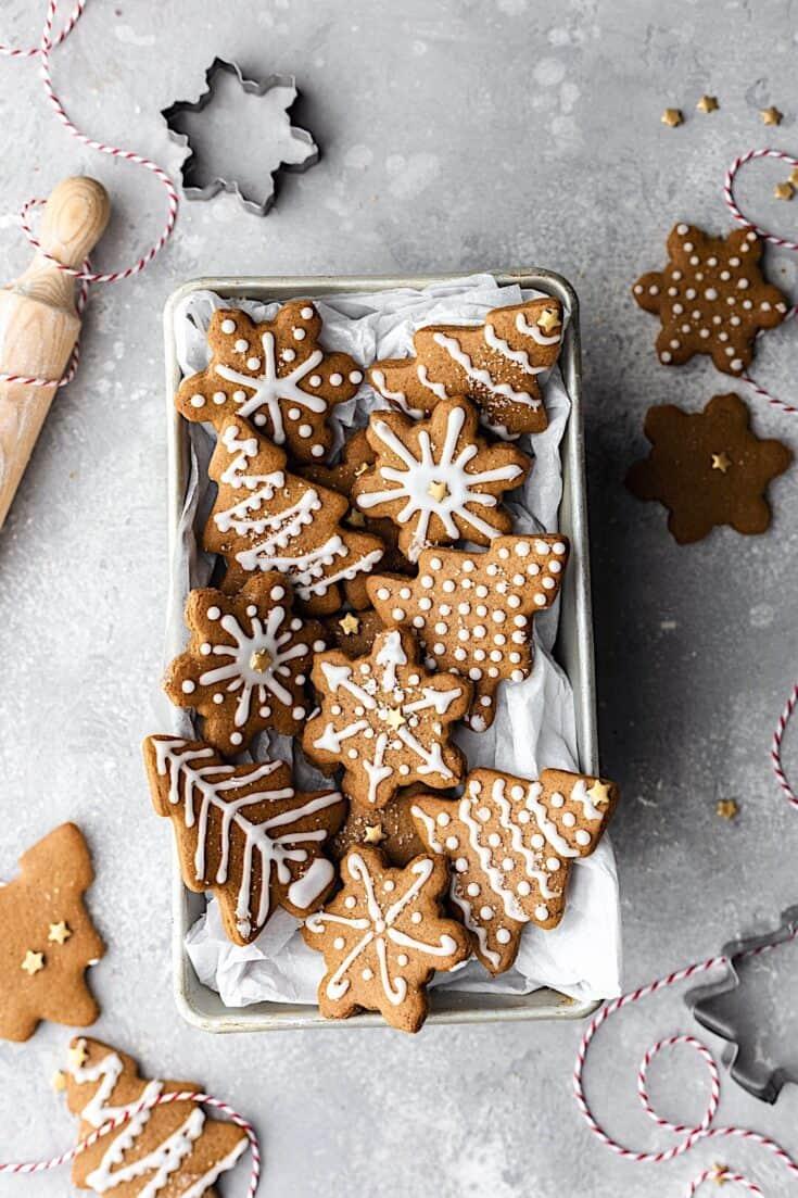 Iced Gingerbread Cookies Cupful Of Kale