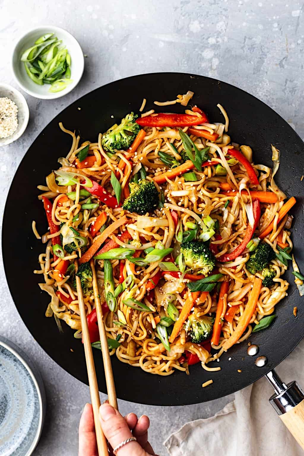 Vegan Vegetable Chow Mein #chinese #chowmein #vegan # recipe #noodles #vegetable