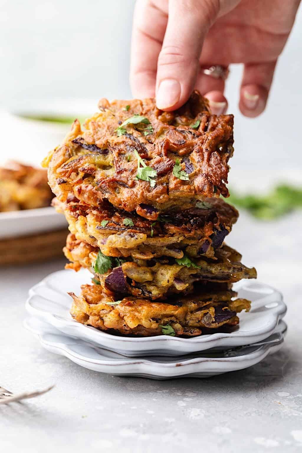 Vegan Onion Bhajis #vegan #recipe #onion #bhaji #indianfood