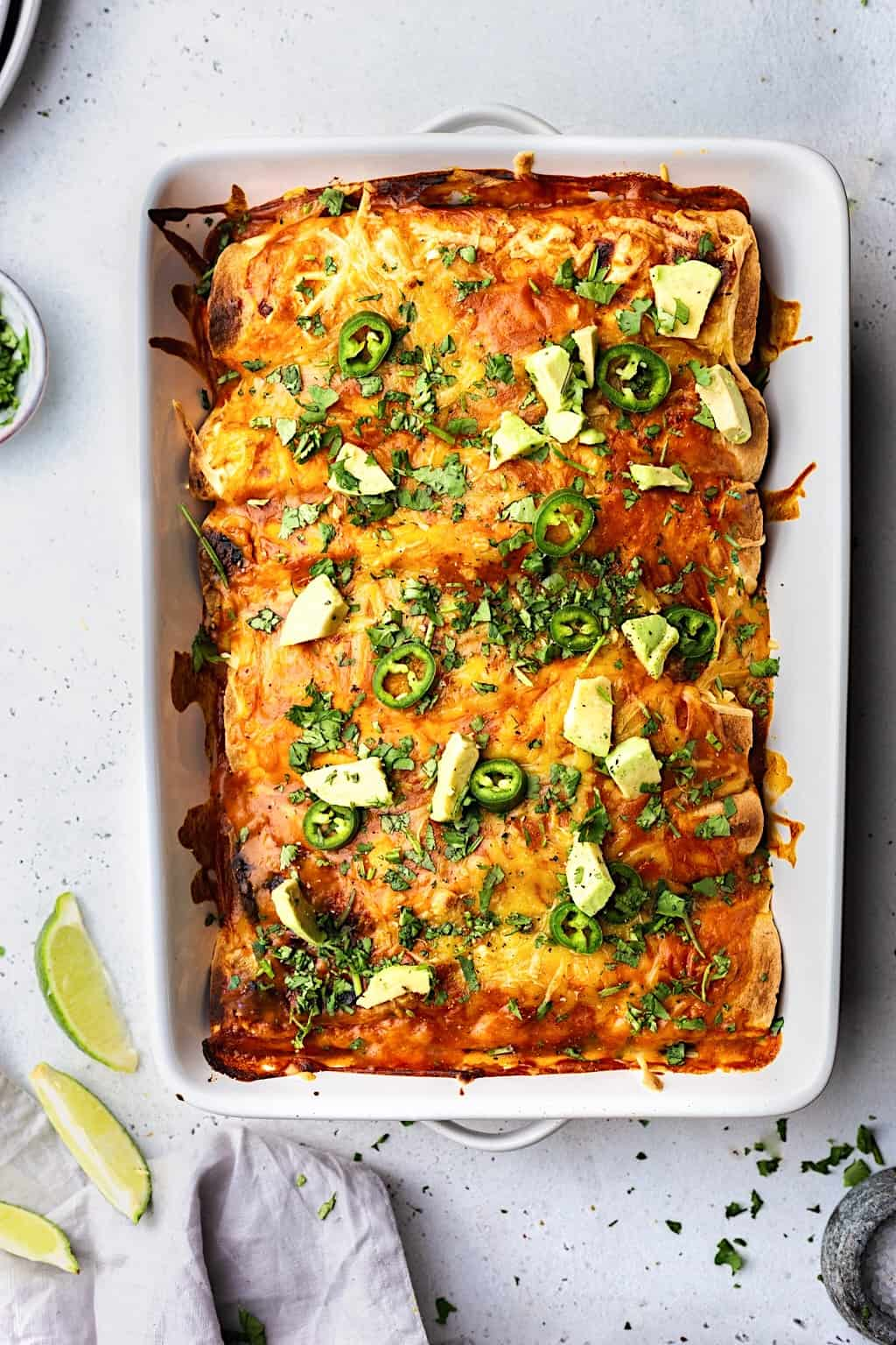 Vegan Black Bean and Sweet Potato Enchiladas #blackbean #sweetpotato #enchiladas #mexican #vegan #recipe