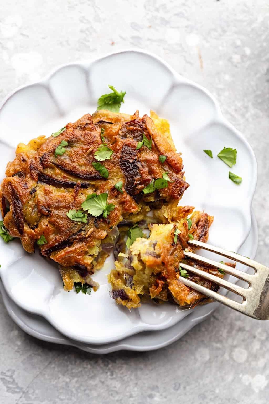 Easy Vegan Onion Bhajis #onion #bhaji #vegan #recipe #indianfood #glutenfree