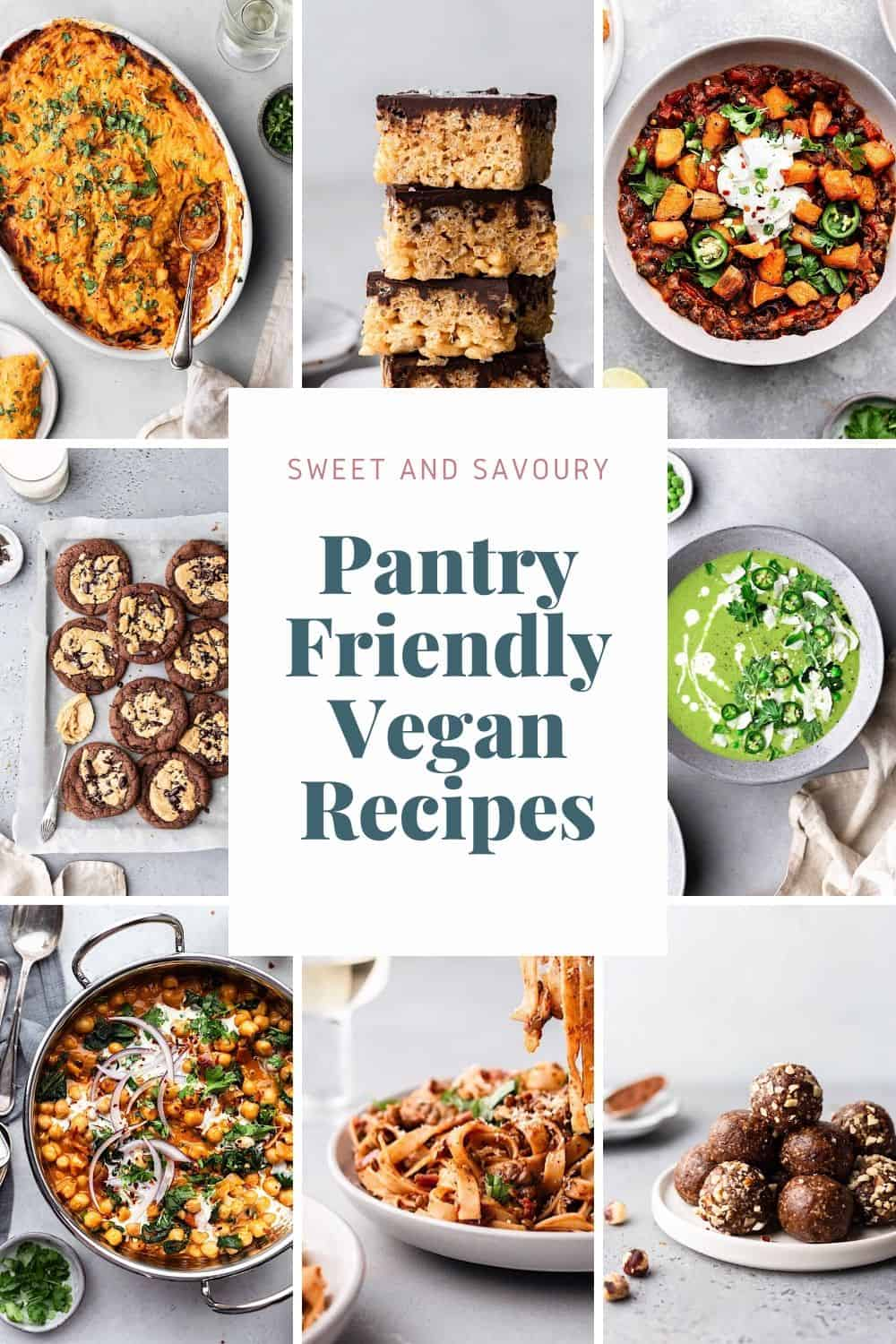 Pantry Friendly Vegan Recipes #pantry #vegan #savoury #recipes #easy #plantbased #dairyfree