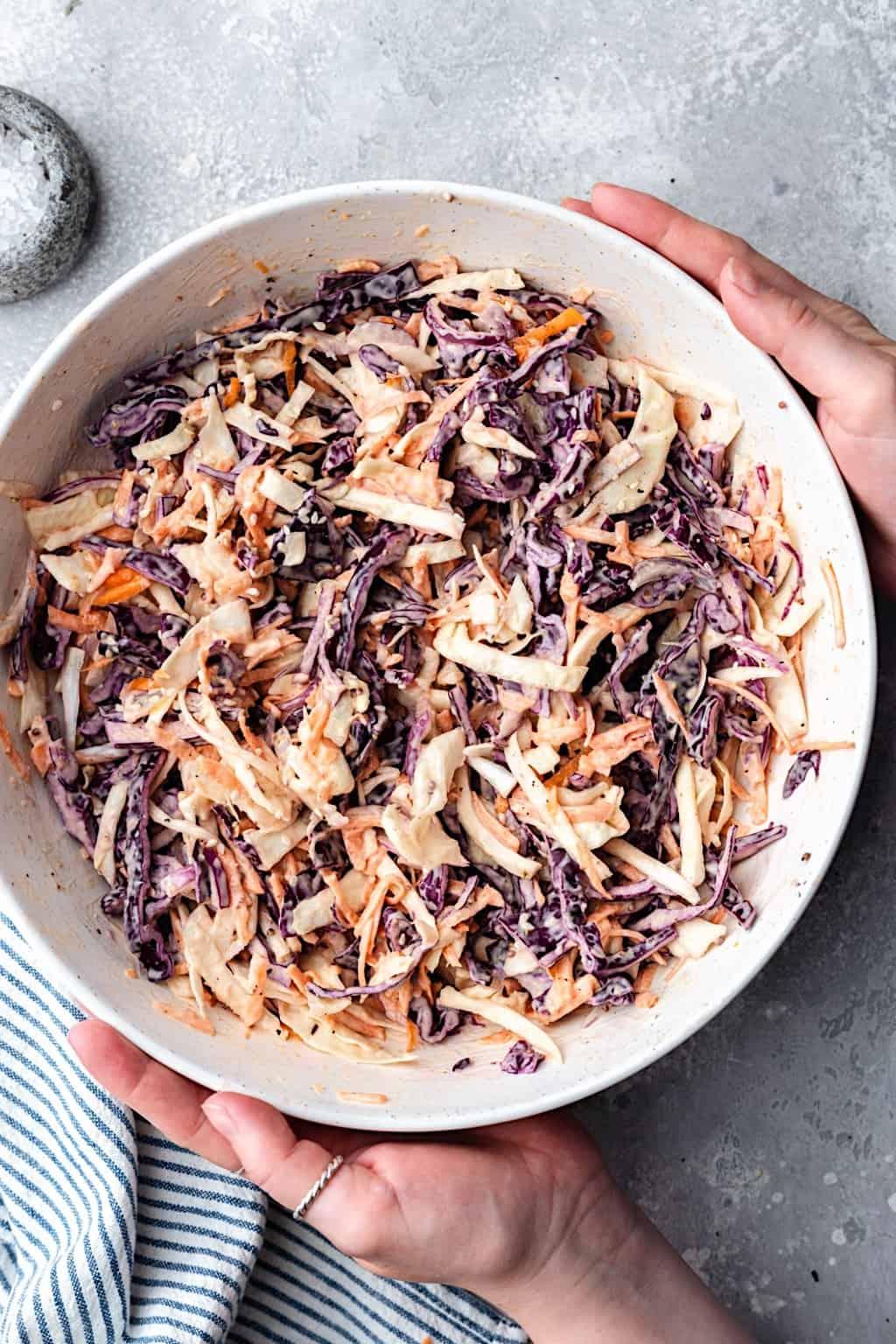 Easy Vegan Coleslaw #vegan #coleslaw #dairyfree #eggfree #mayo #food