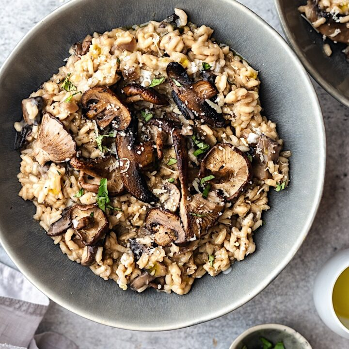 Mushroom Risotto Cupful Of Kale