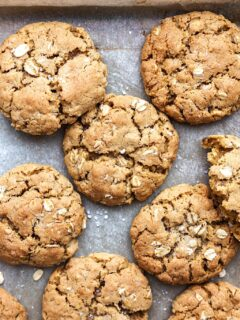 Vegan Chewy Oatmeal Cookies #vegan #oat #cookie #recipe #easy #dairyfree #eggfree