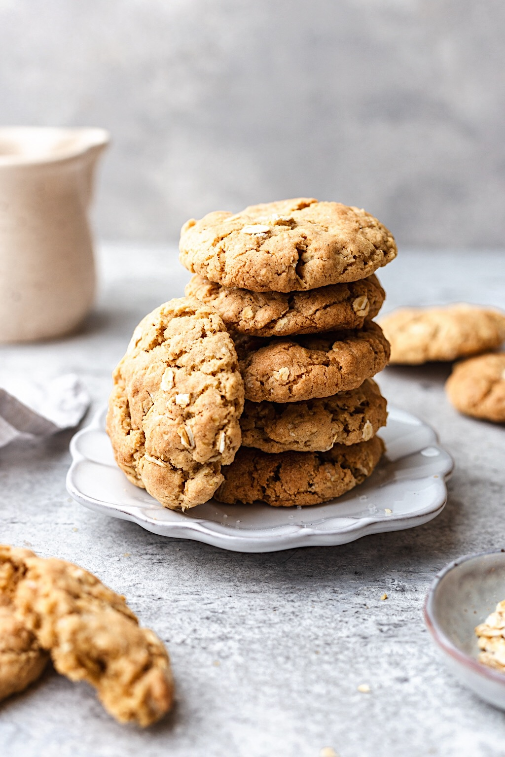 Vegan Oat Cookie Stack #vegan #oat #cookies #recipe #dairyfree #eggfree #baking