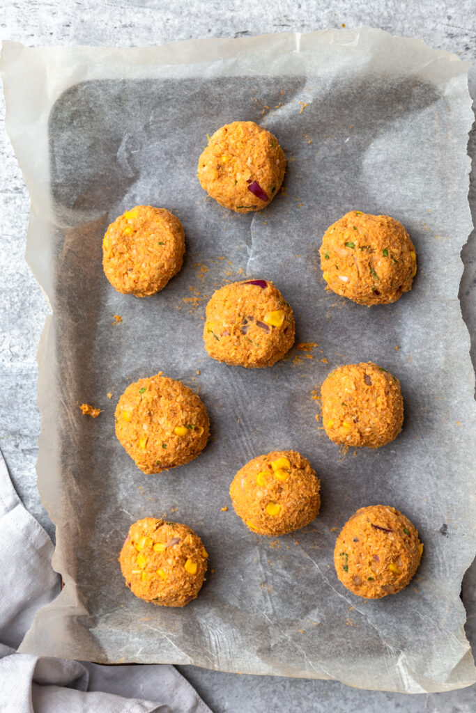 Sweet potato falafel balls
