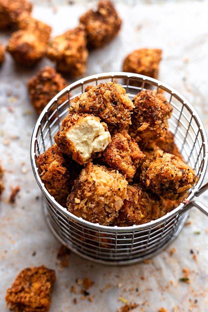 Fried Cajun Popcorn Tofu #tofu #cajun #vegan #plantbased